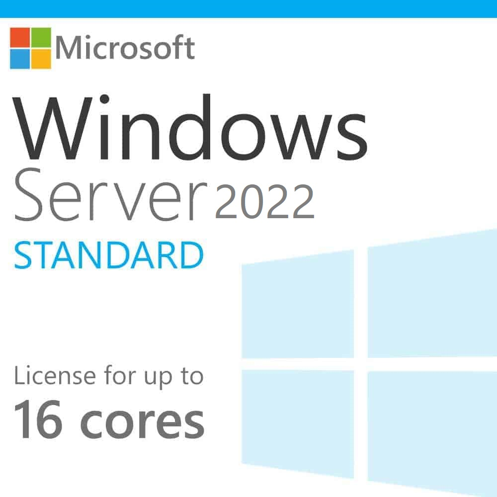 Windows Server 2022 Standard Edition (Upto-16Core)   Download link and Activation Code   Lifetime License